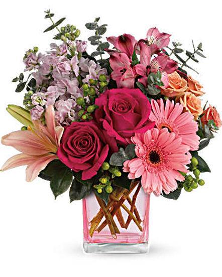 Teleflora's Painterly Pink Bouquet