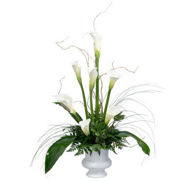 White Calla Table Arrangement