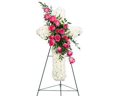 Pink & White Cross