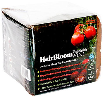 HeirBloom Vegetable & Herb Soil with Fertilizer  Small Bale