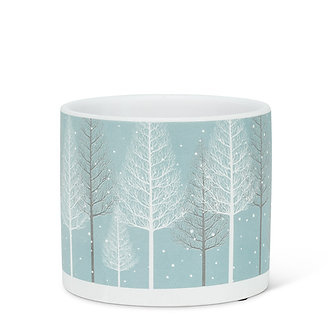 PLANTER SNOWY FOREST SMALL