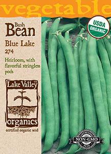 ORGANIC BEAN BUSH BLUE LAKE 274   HEIRLOOM