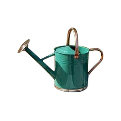 Gardman Galvanized Watering Can with Copper Accents  in hunter green