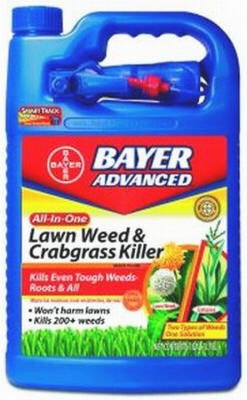 BioAdvanced 1 Gallon All-in-One Ready-to-Use Weed Killer for Lawns