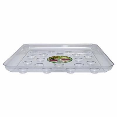 CWP Heavy Gauge Footed Square Carpet Saver Saucer  14-Inch Clear