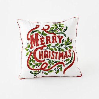 PILLOW MERRY CHRISTMAS 18X18