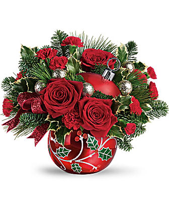 Teleflora's Deck The Holly Ornament Bouquet