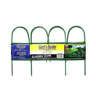 Garden Zone Border Round Folding Border Fence- Green 10 Inx10 Foot
