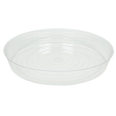 Curtis Wagner Plastics CW-2100N 21 in. Plastic Plant Saucer Clear - Pack of 5