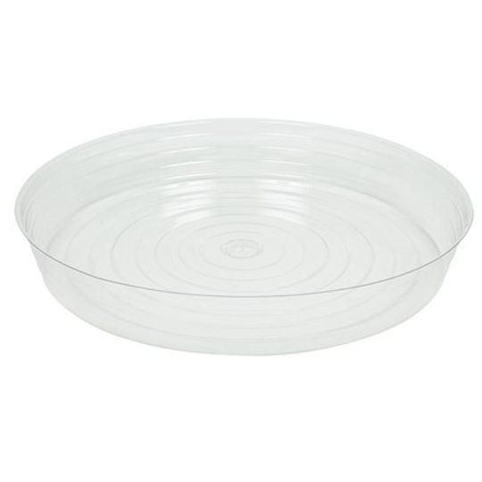 Curtis Wagner Plastics CW-2100N 21 in. Plastic Plant Saucer Clear