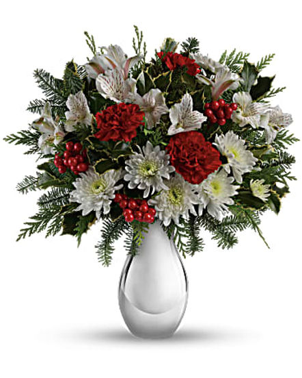 Teleflora's Silver And Snowflakes Bouquet