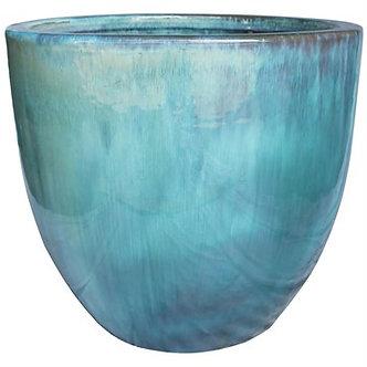 MCarr 12in Egg Planter Milky Blue