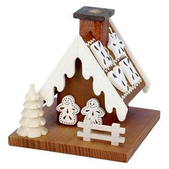Incense Burner - Gingerbread House (Natural)