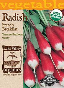 ORGANIC RADISH FRENCH BREAKFAST   HEIRLOOM