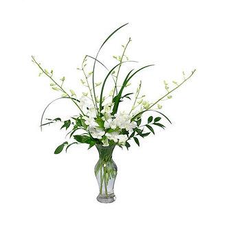 White Dendrobium Vase