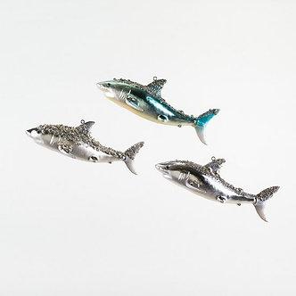 ORNAMENT SHARK GLASS