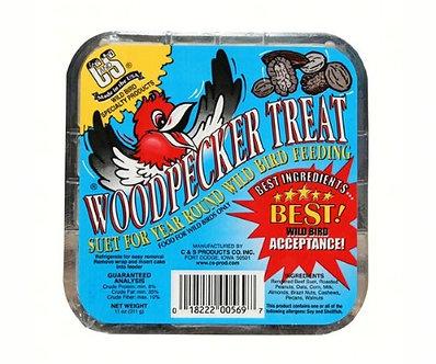 Woodpecker Treat Assorted Species Wild Bird Food Beef Suet 11 Oz.