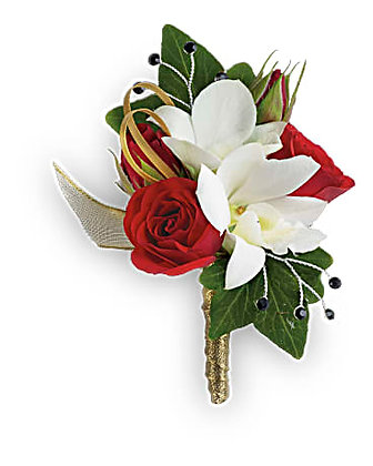 Star Studded Boutonniere