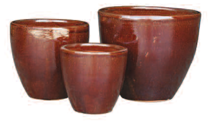 New Egg Planter - Cinnamon (Cognac Brown)
