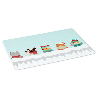 PLACEMAT WINTER CATS