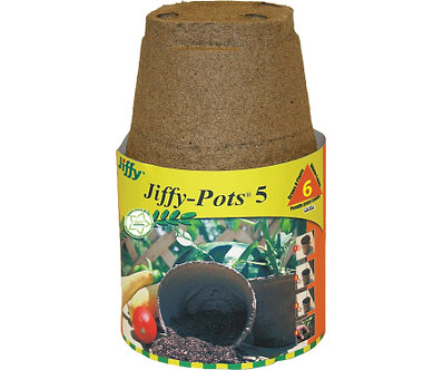 Jiffy 5in Round Pots 6pk