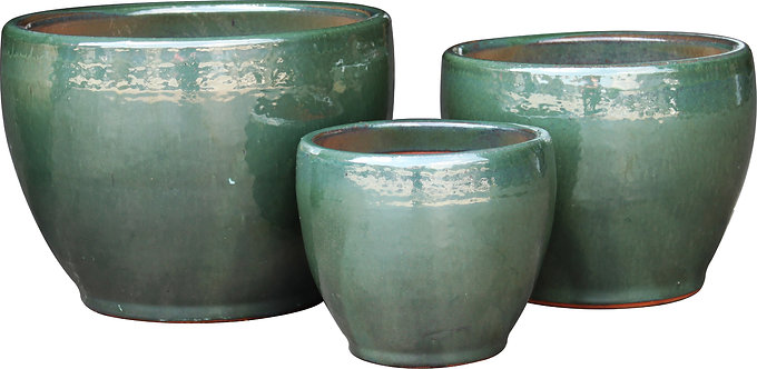 Toga Bell Large Planter - Emerald Sky