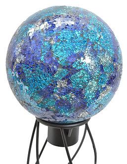 Gazing Globe 'Blue/Aqua Mosaic' 10 Inch