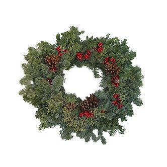 "Berry Christmas Wreath 24"""