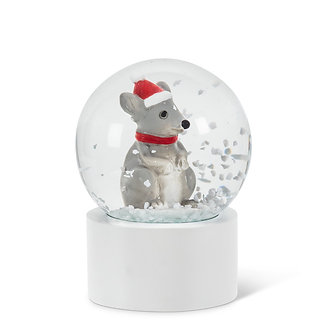 SNOWGLOBE MINI MOUSE IN HAT