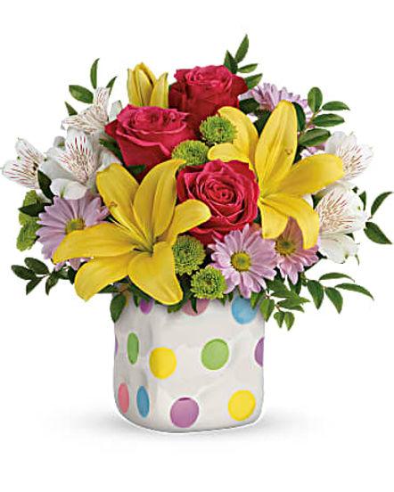 Teleflora's Delightful Dots Bouquet