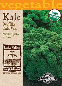ORGANIC KALE DWARF BLUE CURLED VATES