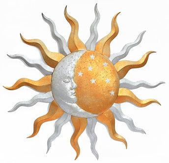 36in SUN & MOON WALL D�COR