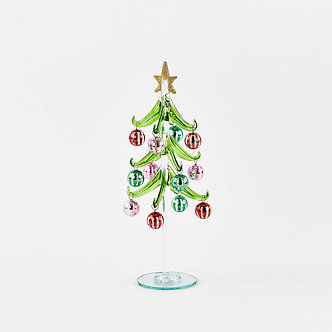 GLASS TREE LARGE MULTI COLORED