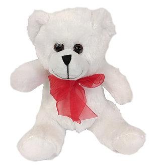 WHITE PLUSH TEDDY BEAR