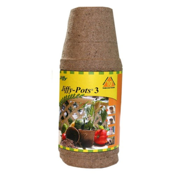 Plantation Products  3 in. Round Jiffy Pot - 10 Pack