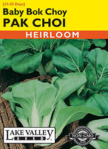 PAK CHOI BABY BOK CHOY  HEIRLOOM