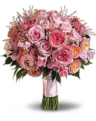 Pink Rose Garden Bouquet