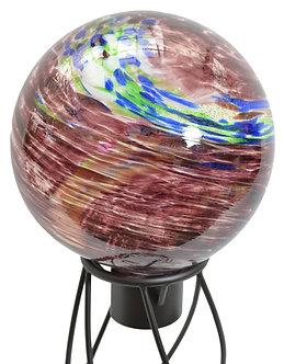 Gazing Globe 'Plum Swirl Illuminarie' 10 Inch