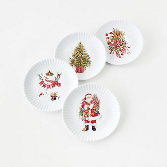 PLATE 9 MELAMINE CHRISTMAS ST4