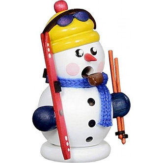 Incense Burner - Snowman Skier