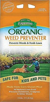 Espoma Organic Corn Gluten Weed Prevent 25 lbs
