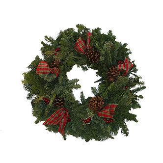 "Berries & Bows Wreath 24"""