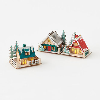ORNAMENT SCAND. LIGHTED LODGE