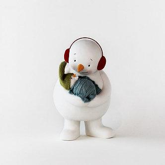 FIGURE SNOWMAN W/BABY 9 PORC.