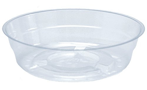 CWP Vinyl Plant Saucer  4-Inch  Clear  20 Poly Bags of 50 Each Per Mas ter Case