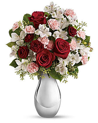 Teleflora's Crazy for You Bouquet with Red Roses