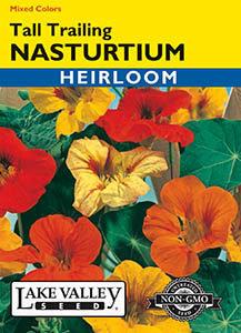 NASTURTIUM TALL TRAILING MIXED COLORS