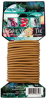 Luster Leaf Soft Twist Tie  Brown