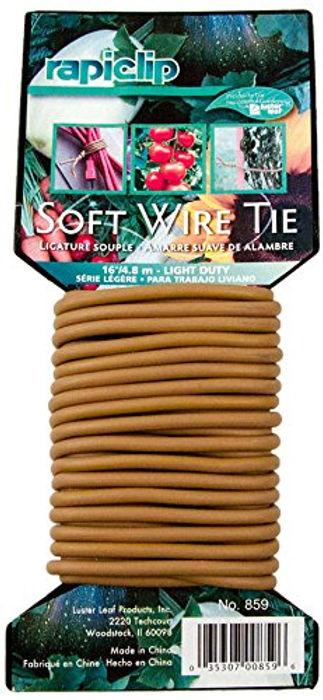 Luster Leaf Soft Twist Tie  Brown
