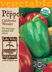 ORGANIC PEPPER SWEET CALIFORNIA WONDER GREEN BELL